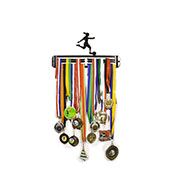 Hang Your Gong Female Footballer Medal Hanger