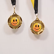 Smiley Face Medal with Ribbon